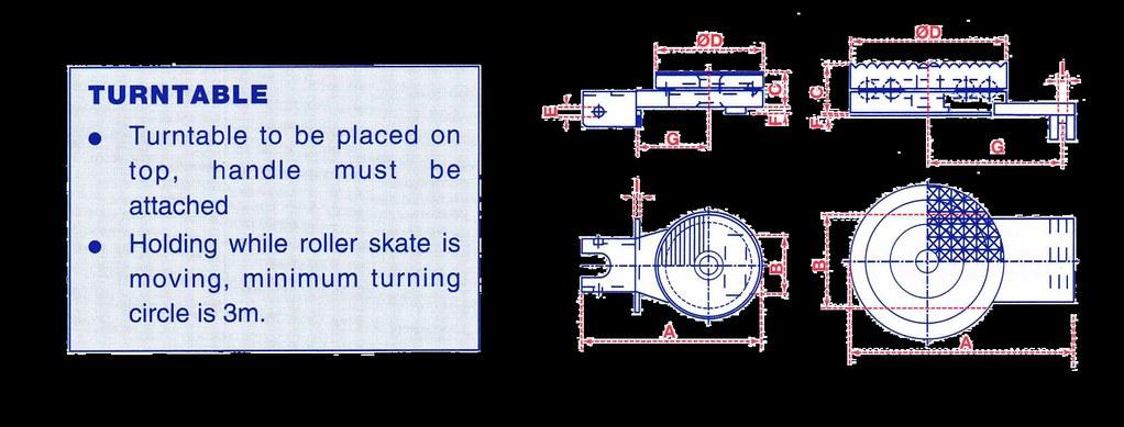 Machinery Skates - Turntable