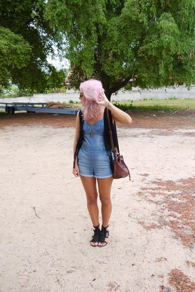 Topshop Dungaress / Crochet Jacket / OOTD / Kirsty Wears Blog