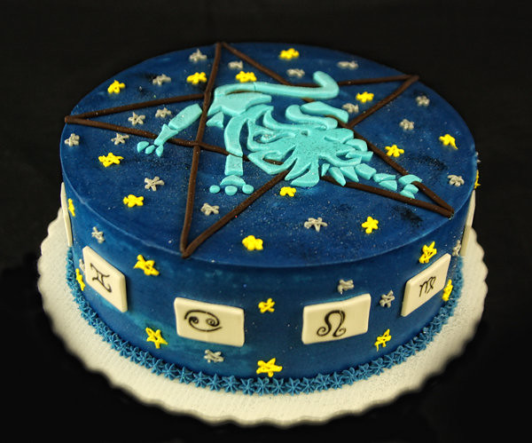 Aquarius Birthday Cake