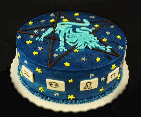 Aquarius Birthday Cake Images