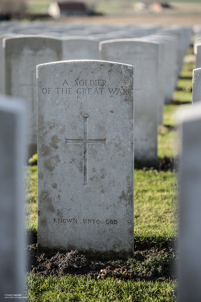 War Grave At Tyne Cot Cemetary Belgium One Of The