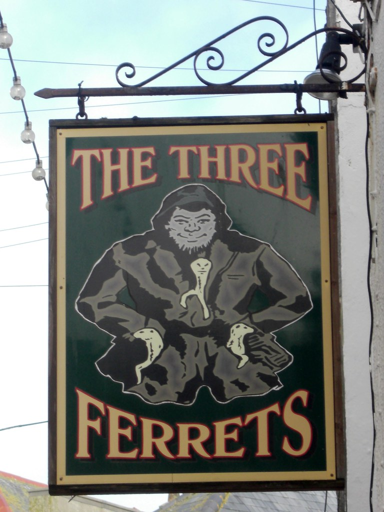 St ives the three ferrets pub sign unusual pub sign from for The ives