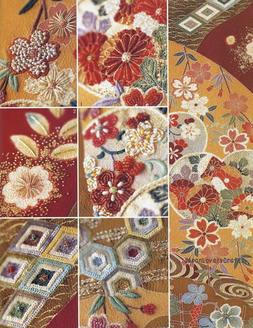Haute couture beads motif japanese bead embroidery s