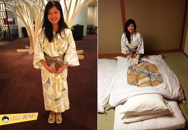 Hokkaido - Shogetsu Grand Hotel - wearing cotton Yukata