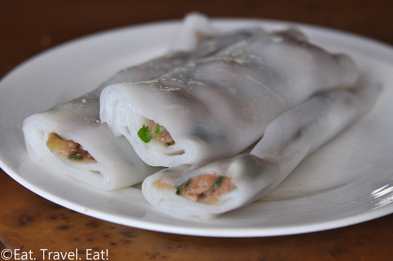 Tim Ho Wan (MTR Hong Kong Station)- Central, Hong Kong: Vermicelli Roll stuffed with Pork Liver