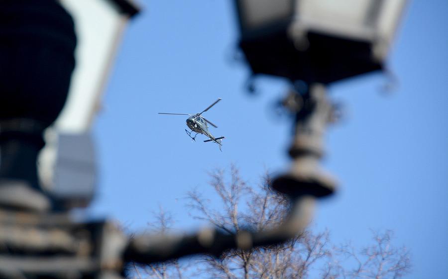 вертолет на митинге Навального