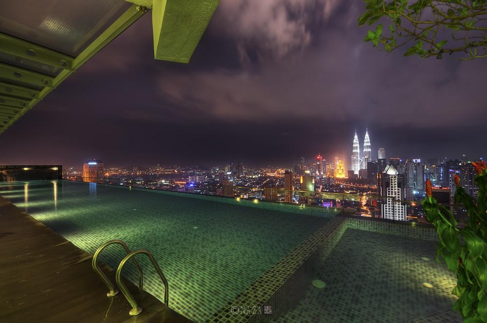 Kuala Lumpur Nightlife Infinity Pool Regalia Residence
