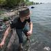 Tyler Skipping Rocks