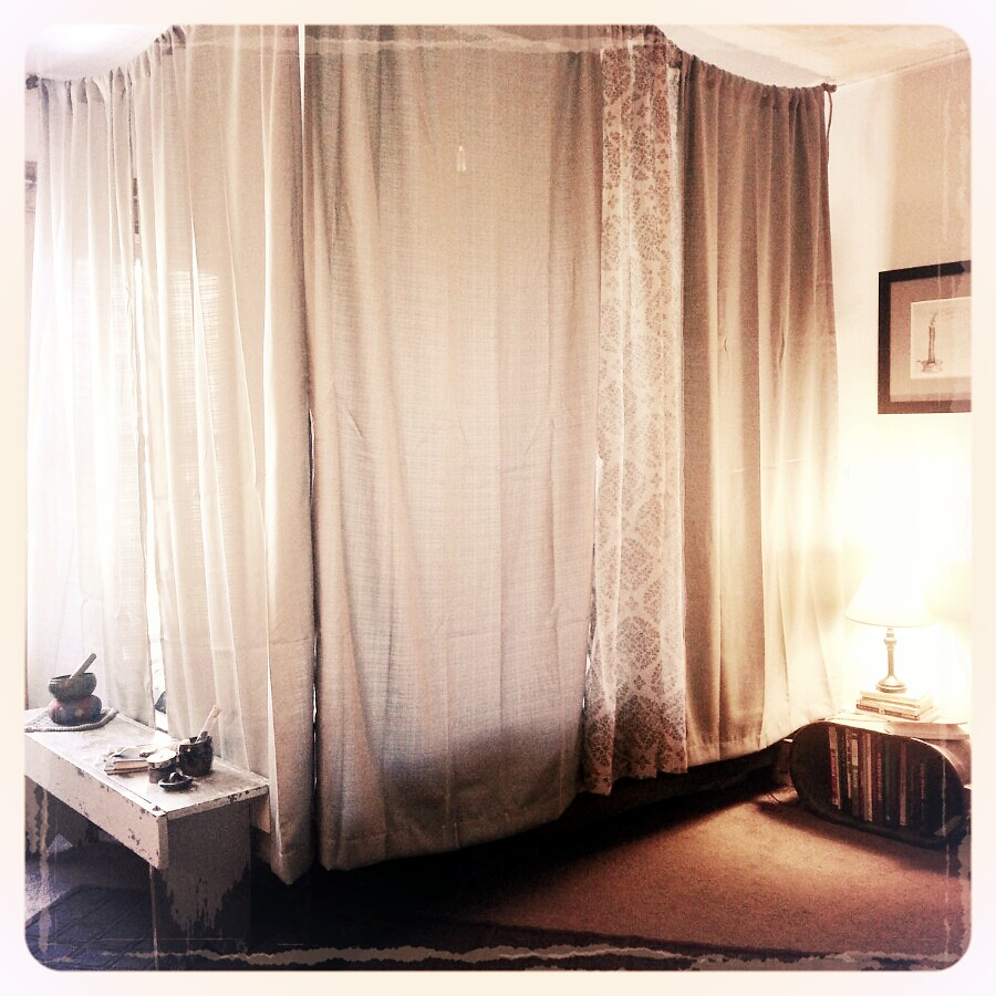 Diy Canopy Bed Rope Small Hooks And Cheap Curtains Flickr