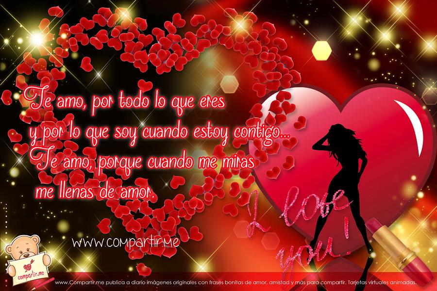 Wallpaper En HD Con Corazones Y Frases De Amor