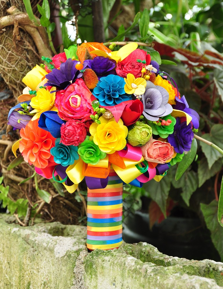 wedding flowers decoration 2 rainbow wedding bouquet and centerpiece www 9572