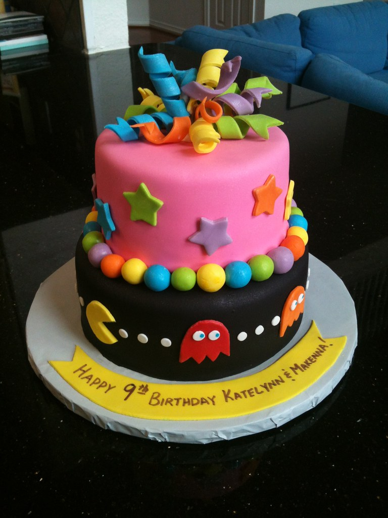 9 Year Old Twins Birthday Cake 80s Theme Chocolate And