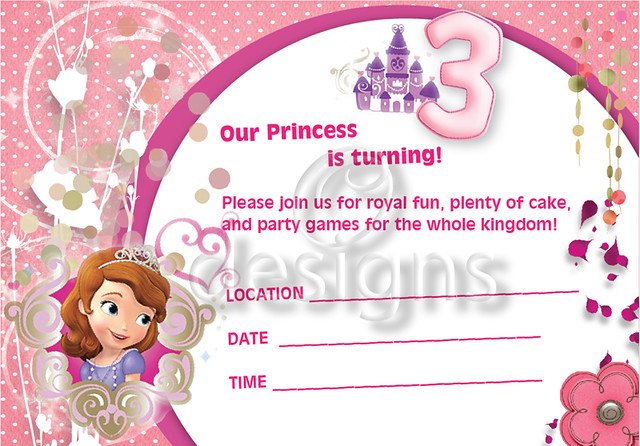 Sofia Party Invitations was nice invitation example