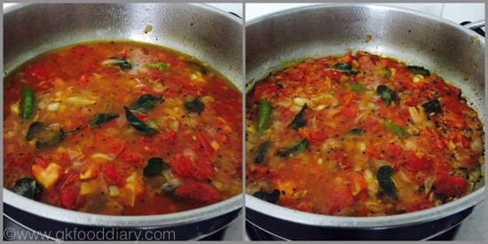 Tomato Gotsu with moong dal - step 3