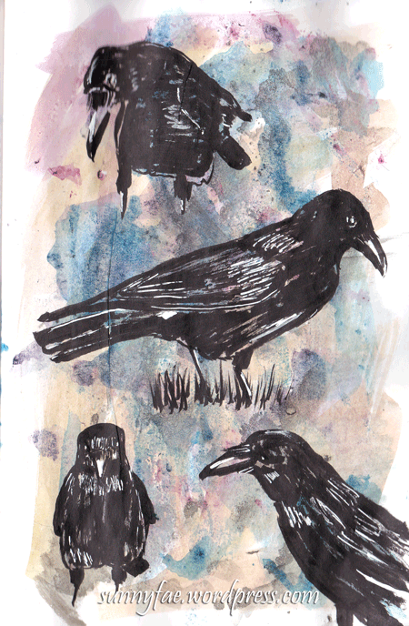 brushpen crows