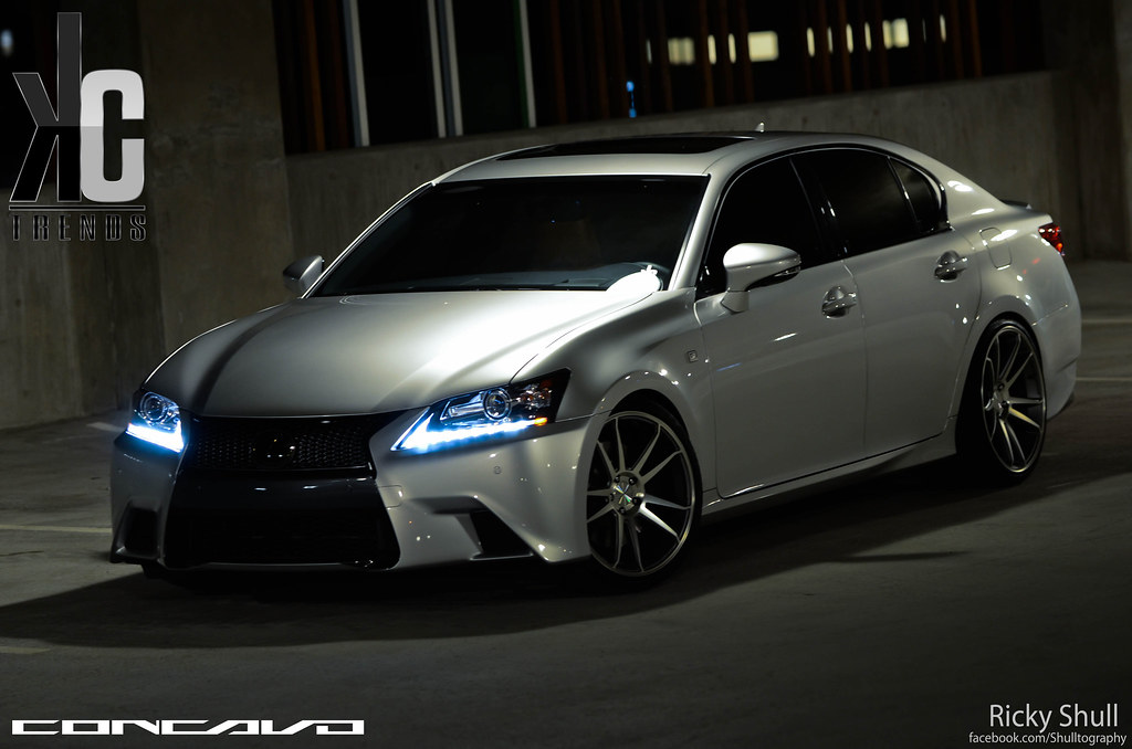 Lexus GS350 F Sport On CW S5 Matte Grey Machined Face Flickr