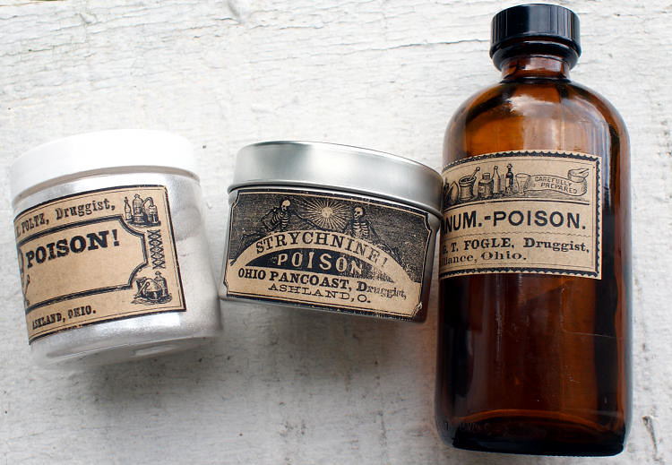 Vintage Poison Apothecary Bottle Labels | Spruce up your ...