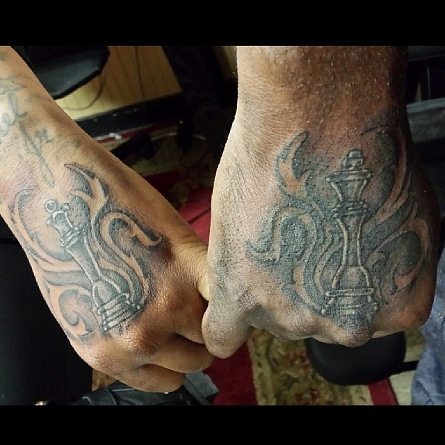 King And Queen Chess Piece Tattoo #king & #queen #chesspiece