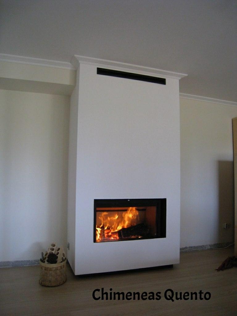 Chimenea quento con rocal ghf 450 showroom - Chimeneas quento ...