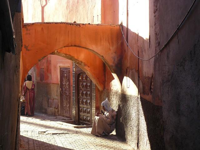 Callejón de Marrakech (Marruecos)