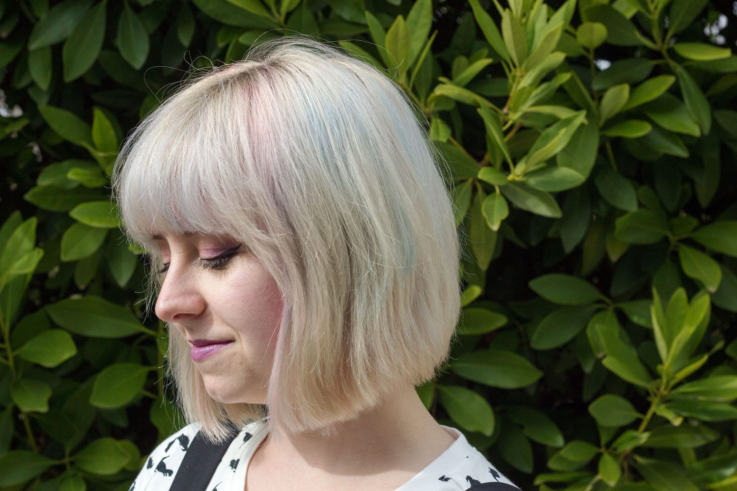 White Blonde Hair with Subtle Pastels
