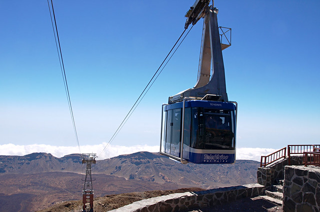 Cable car to Mount Teide, Teide National Park,  Tenerife