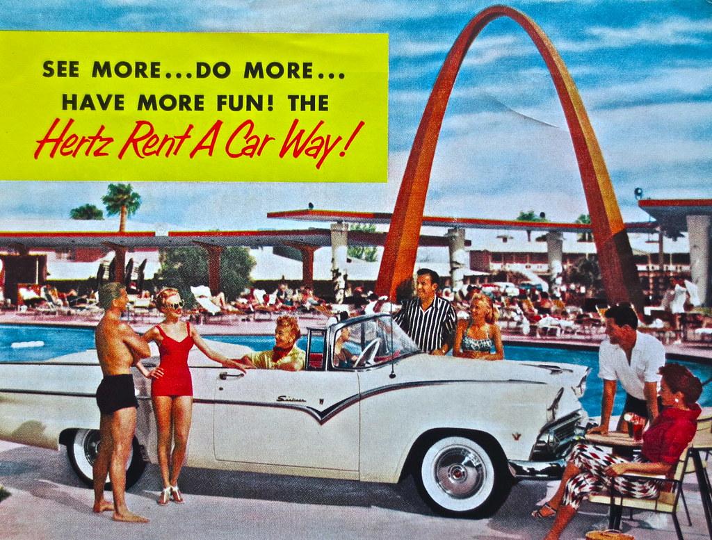 Vintage Ad - 1950s Hertz Rent-A-Car   www.artskooldamage ...1950s Cars For Rent