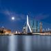 Full moon over the Erasmusbrug