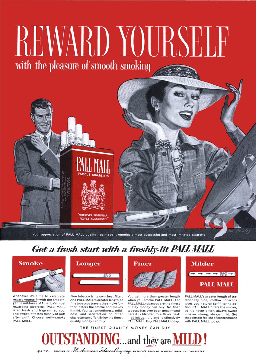 Pall Mall - published in Woman's Day - April 1956