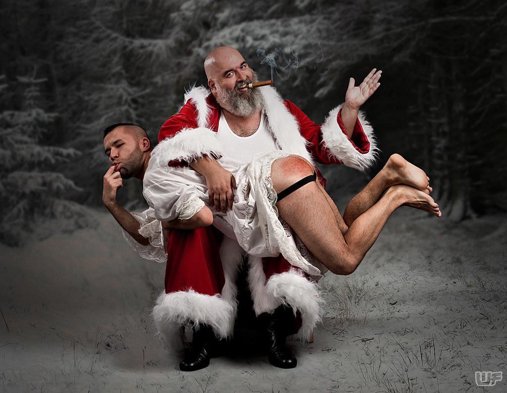 "Bad Santa I (Alkis & Damien, repost) | ""He's making a list a ..."