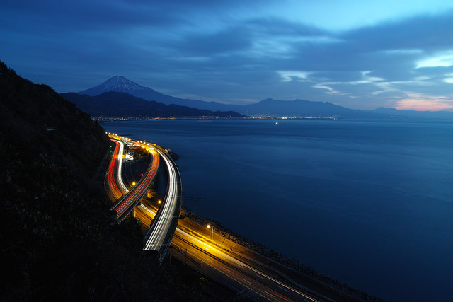 Mt. Fuji viewed from the Satta Pass