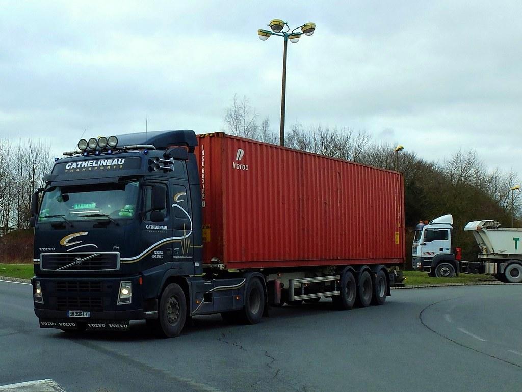 Volvo fh 480 semi remorque porte conteneur cathelineau for Porte conteneur