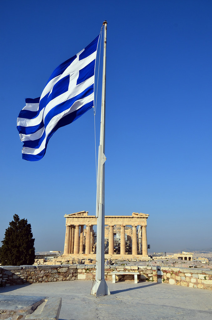 Terms Of Use >> Greek Flag / Parthenon | Flag of modern Greece with the Part… | Flickr
