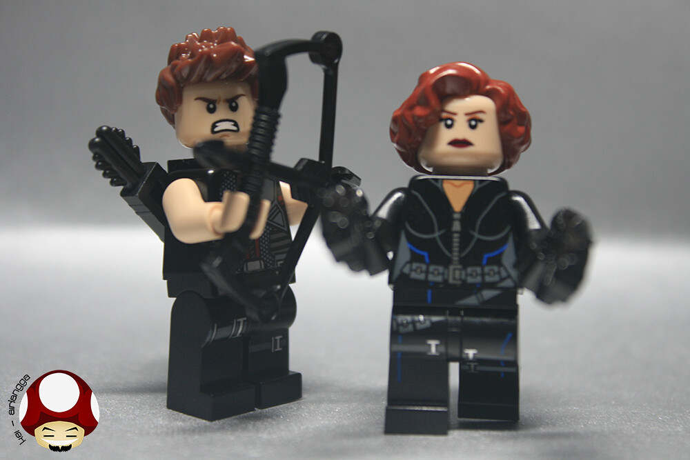 MOC Hawkeye & Black Widow | I change head & hair for Both ...