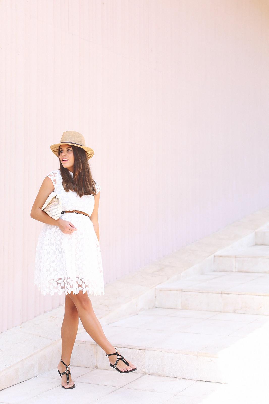 1. lace white short dress - jessie chanes - pregnancy