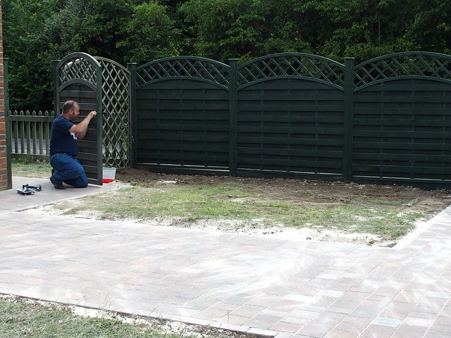 Ryan re-hanging the gate
