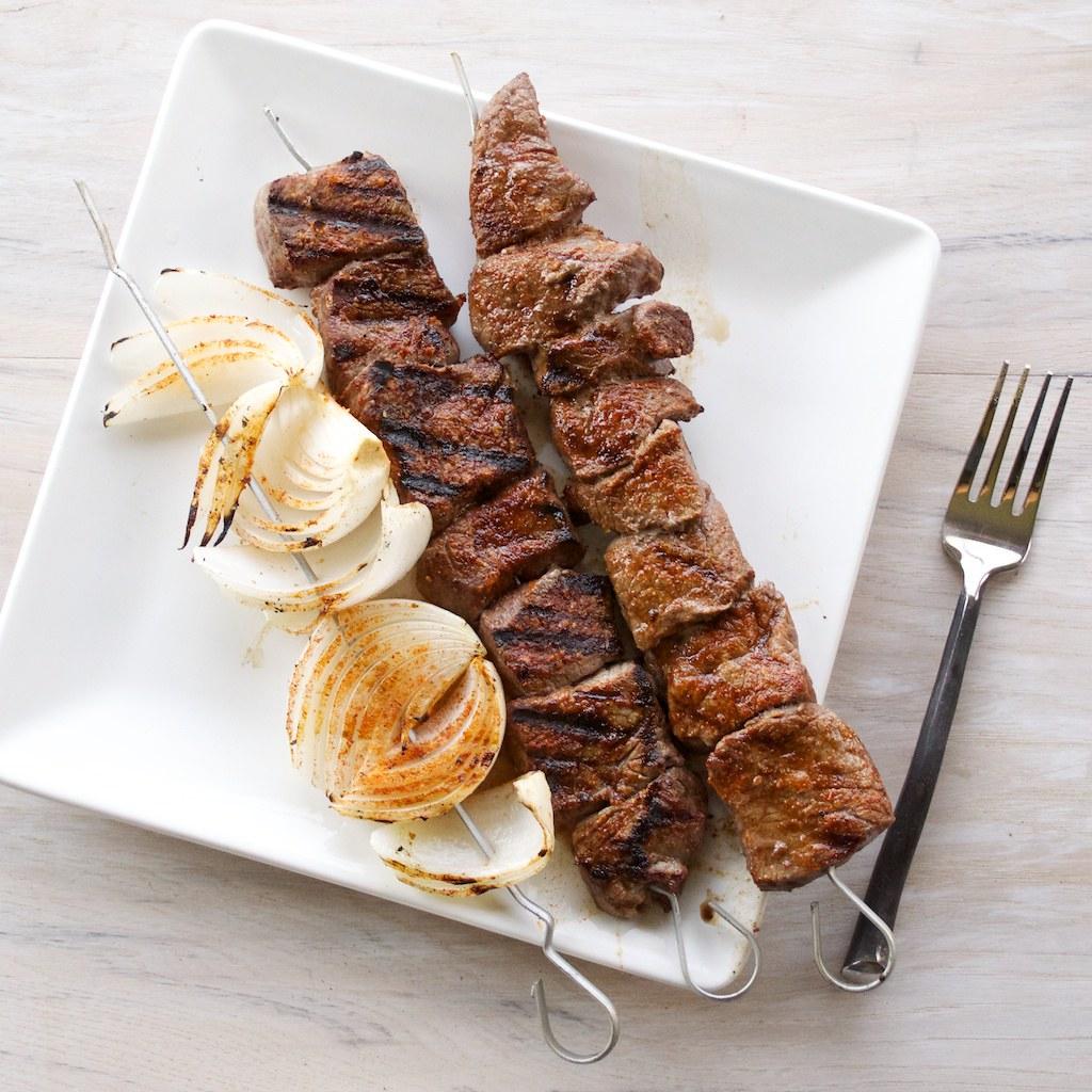Beef Shish Kabob Plate Beef Shish Kabob Recipe