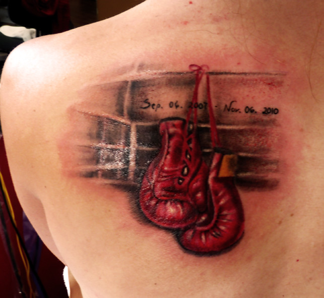 Boxing glove tattoos