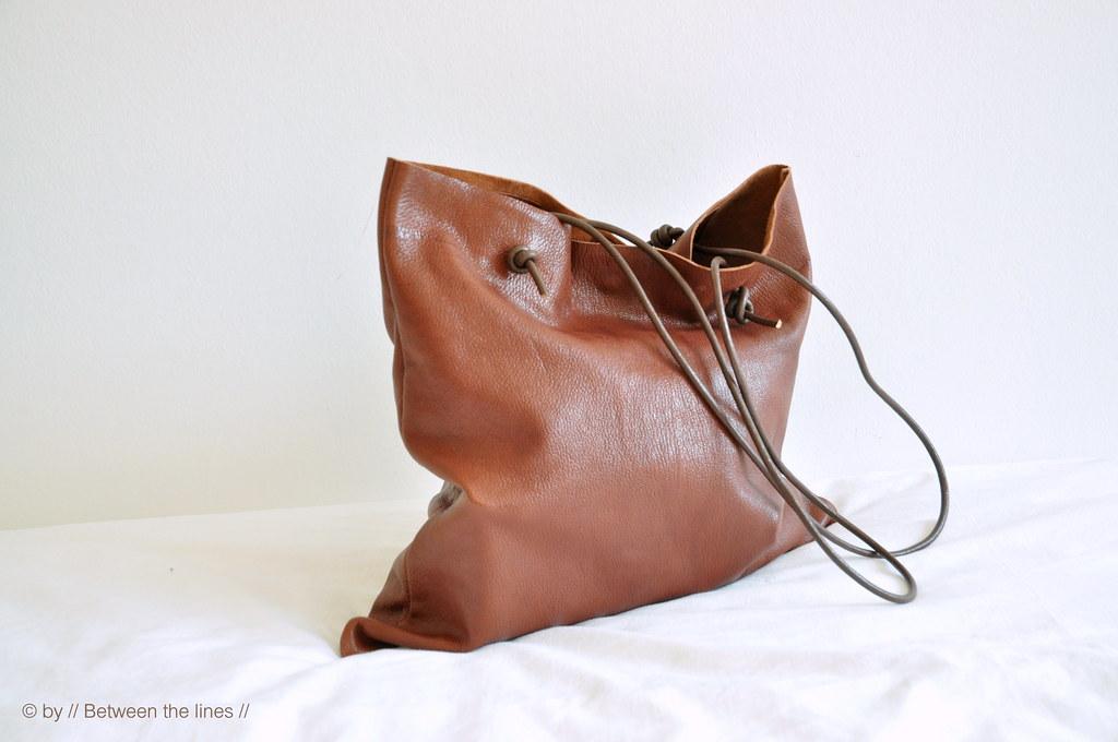 Учимся сшивать сумку из кожи