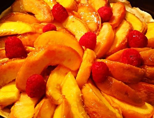 #CondoSeniors baking #PeachTart: Inventive... Add raspberries - #Food