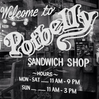 Potbelly shop front window