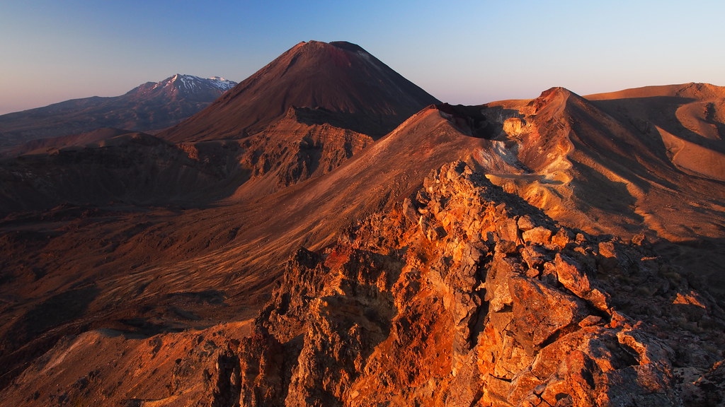 Mount Tongariro is a beautiful volcanic mountain