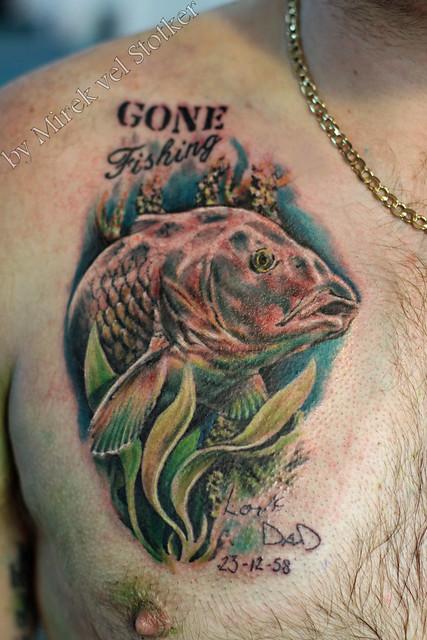 carp fish tattoo by Mirek vel Stotker | Flickr - Photo ...