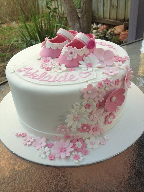 Christening Cake Design For Baby Girl : baby girl baptism cake Flickr - Photo Sharing!