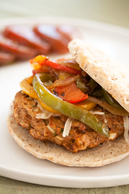 Chicken Fajita Burgers | Explore Isabelle @ Crumb's photos o ...