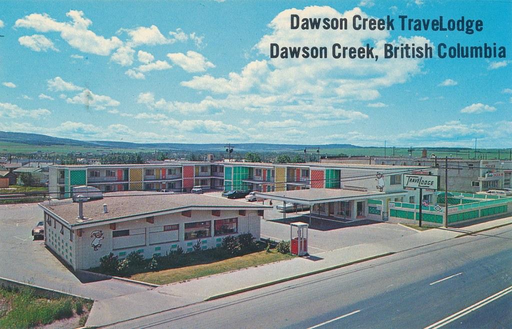 Postcard Dawson Creek Travelodge C 1967 Quot Dawson Creek