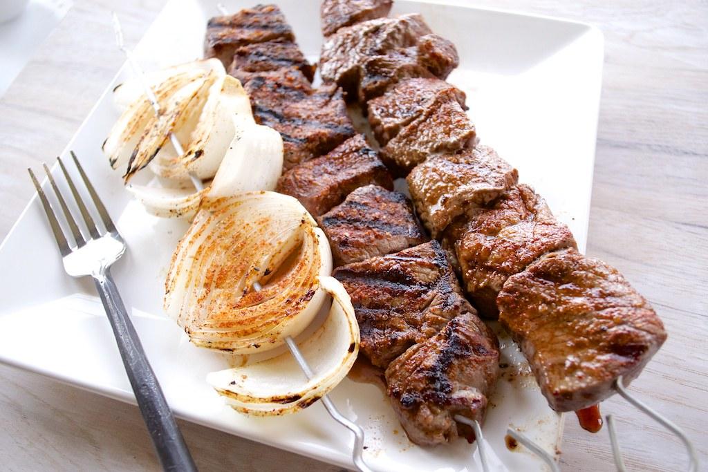 Beef Kabobs Plate Beef Shish Kabob Recipe