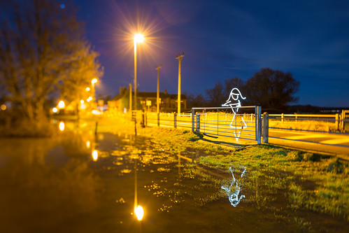 Flood Light (All In Camera Tilt Shift Light Painting), Wareham | by flatworldsedge