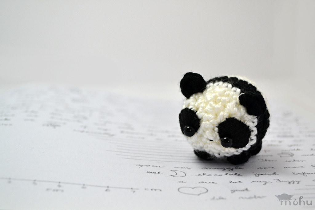 Panda amigurumi Kawaii panda loves to eat (^-^) mohumohu ...