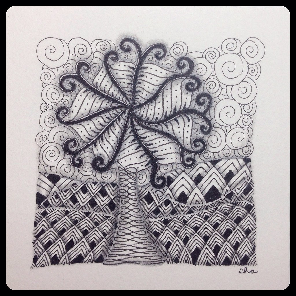 Zentangle Landscape Tile Branching Out My Th